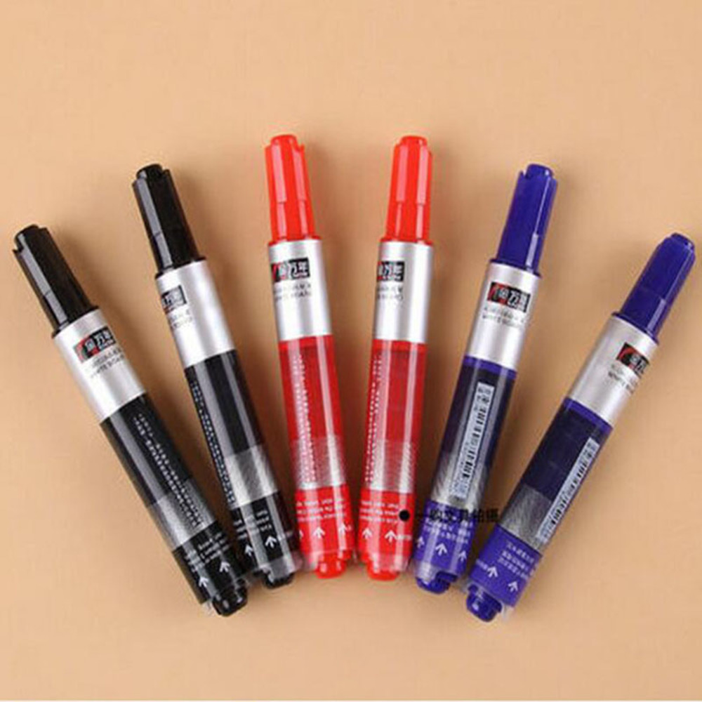 10  pcs Free shipping whiteboard pen straight liquid press type out of ink Water-based erasable marker Dark blue and red/Y009 pneumatic air filter regulator aw3000 03d 3 8 smc type air treatment unit automatic drain type