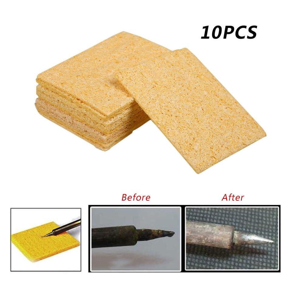 10pcs Cleaner Endurable Tool Magic Soldering Solder Iron Tips Sponge Pad Home