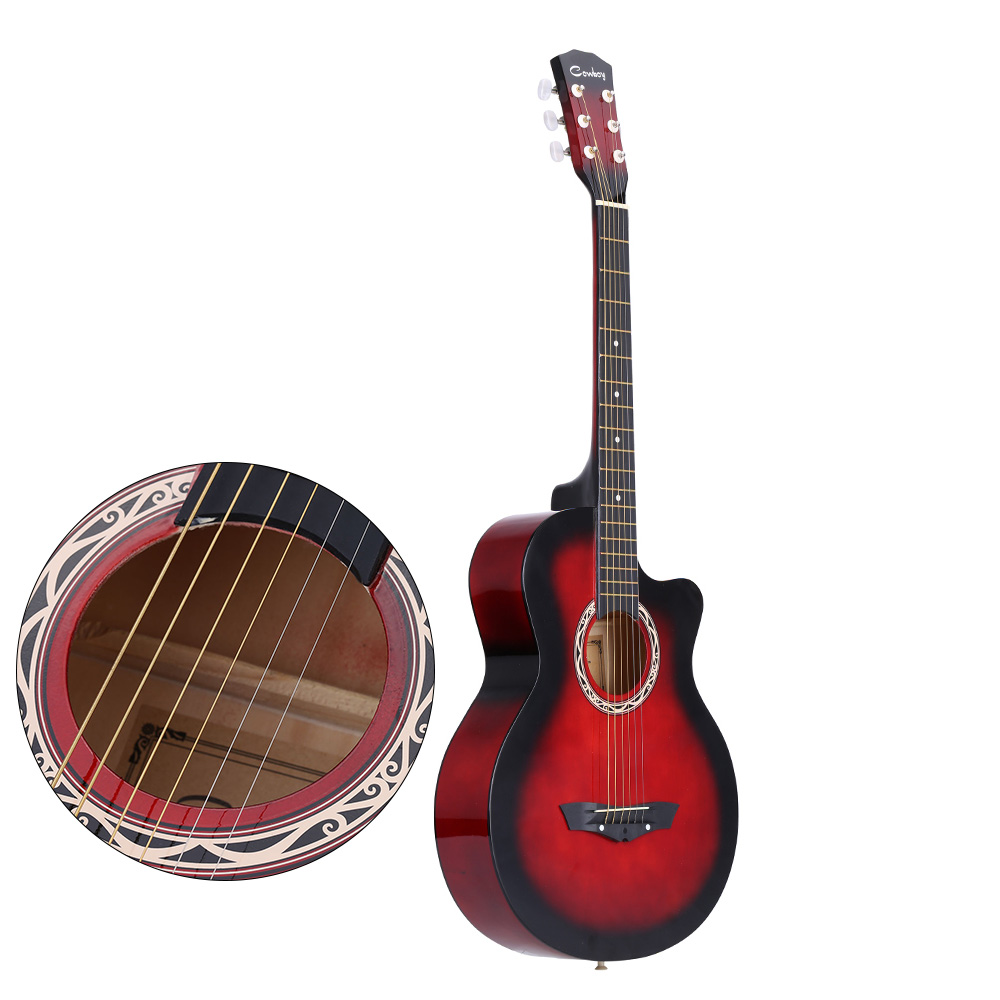 38 acoustic guitar folk 6 string guitar for beginners guitar students gift. Black Bedroom Furniture Sets. Home Design Ideas
