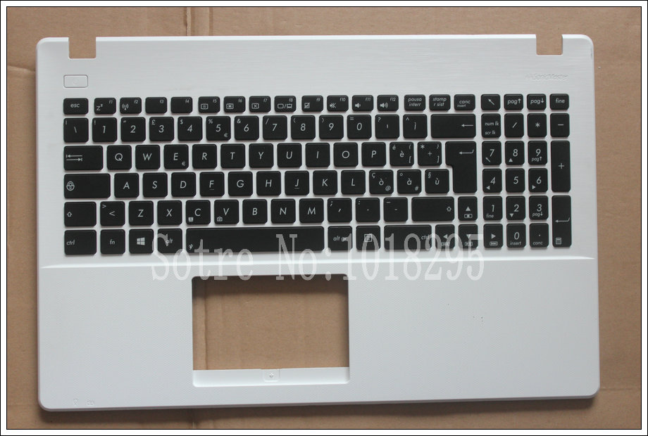 NEW Italy IT keyboard For Asus X551 X551C X551M X551S Italian Laptop keyboard White shell laptop keyboard for acer silver without frame italian it v 121646ck2 it aezqsi00110