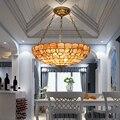 20-дюймовый подвесной светильник Tiffany europe shell в европейском средиземноморском стиле для столовой  спальни  бара  подвесное освещение