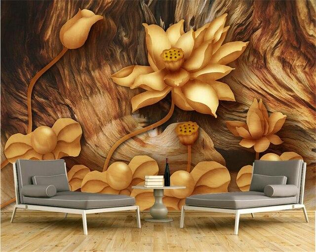 Beibehang 3D Tapeten HD Reine Hand Gemalt Perle Tapete Wohnzimmer ...