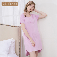 Lady Nightgown With Short Sleeves In Summer After A Short Long Nightgown Before Ms Fashion Knitting