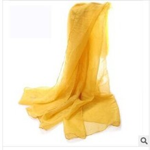 Free shipping Ms Autumn and winter tablet scarf pure color voile chiffon scarves(China (Mainland))