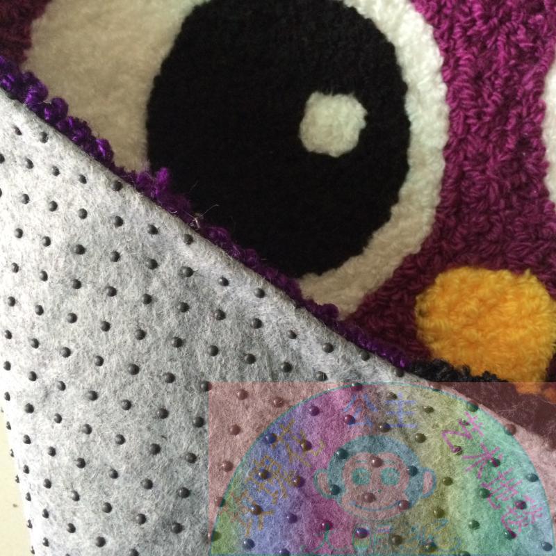65 cm * 65 cm tapis hibou violet tapis fait main tapis de salle de bain Design hibou tapis de bande dessinée pour enfants tapis de sol antidérapant petit - 5