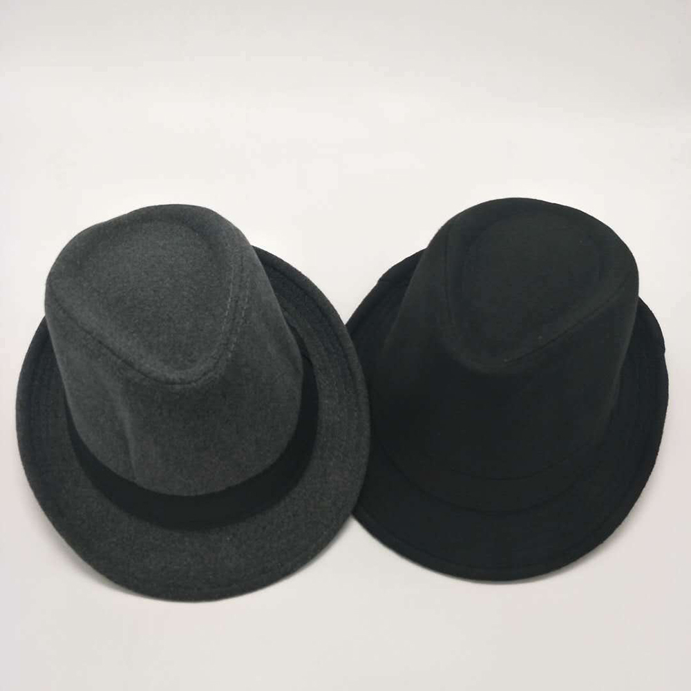 New Gentleman Cashmere Hat Men Women Winter Warm Wool Felt Hat Panama  Gangster Cap Jazz Hat 2a230a6324bc
