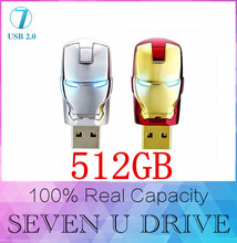 Marvel Bande Dessinée Iron man 16 GB 32 GB 128 GB usb flash drive 512 GB pen drive pendrive U disque Pouce memory stick usb stick flash carte