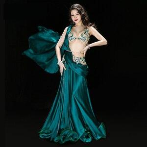 Image 2 - Professionale Egiziano danza del ventre vestito Da Ballo Originale Handmade Del Reggiseno + Skirt + cintura + pantaloni di Sicurezza Vestiti di Prestazione della fase Costume