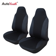 AUTOYOUTH 2PCS Front Car Seat Cover 5 Colour Universal Fit for lada Honda Toyota Seat Covers Car Styling