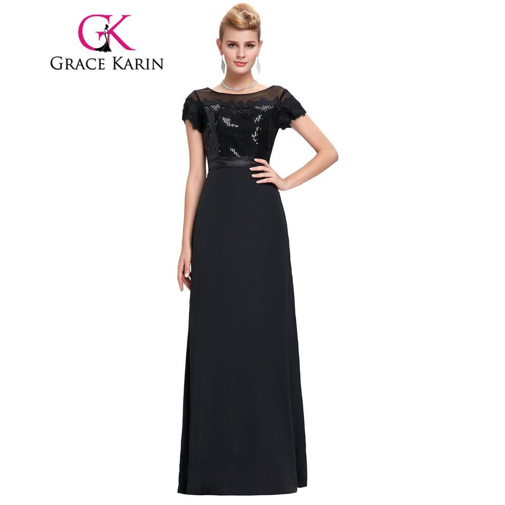 Manufacturer of elegant dresses evening dresses occasional wholesale - New Arrival Elegant Long Black Evening Dresses Soft Tulle Netting Lace Evening Gowns Grace Karin Sweetheart