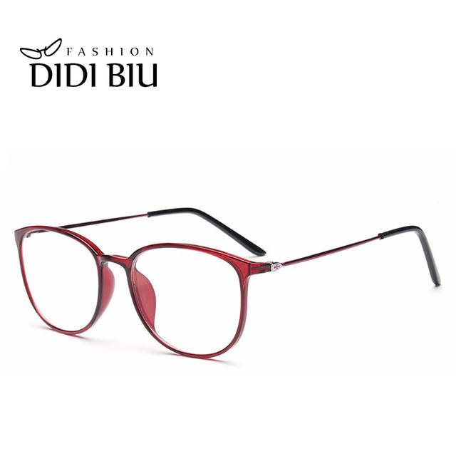 461917c6f7 Online Shop DIDI Leopard TR90 Titanium Eyeglasses Thin Frame Women Men  Clear Lens Myopia optical glasses Spectacle Frames Oculos De Sol U569