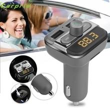 Горячая hothot Bluetooth-гарнитуры для авто Беспроводной fm-передатчик Dual USB Зарядное устройство аудио MP3-плеер JR17