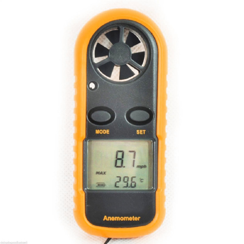 Portable Digital Hand-held Wind Speed Gauge Meter 30m/s Wind Speed Measuring Instrument Anemometer Thermometer Windmeter цена