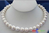 hot sell new HUGE 17 14MM WHITE ROUND FW CULTURED PEARL NECKLACE Noble style Natural Fine jewe FRE Meticulous and pictures