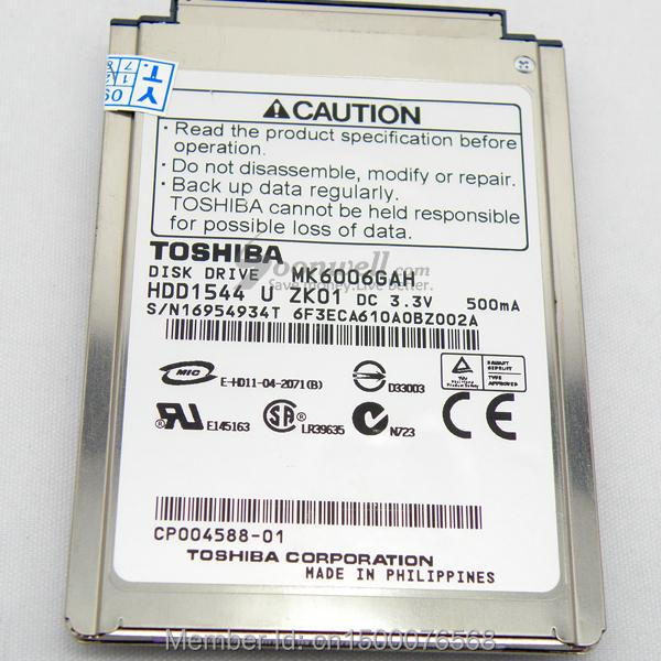 NEW 1 8 CF PATA MK6006GAH 60GB 4200RPM Hard Drive replace MK8007GAH MK4006GAH MK4004GAH for laptop