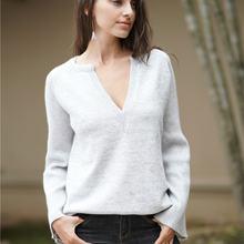 Женский свитер осень 2021 новый Однотонный пуловер темпераментный