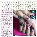 LCJ Pegatinas de Uñas Marca de Labios de Plumas Diseños Nail Art Water Transfer Sticker Calcomanías Wraps Manicura Decoración