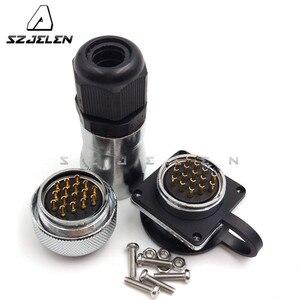 Водонепроницаемый разъем SZJELEN WF28, 16 контактов, крепление на панель, разъем светодиодного кабеля
