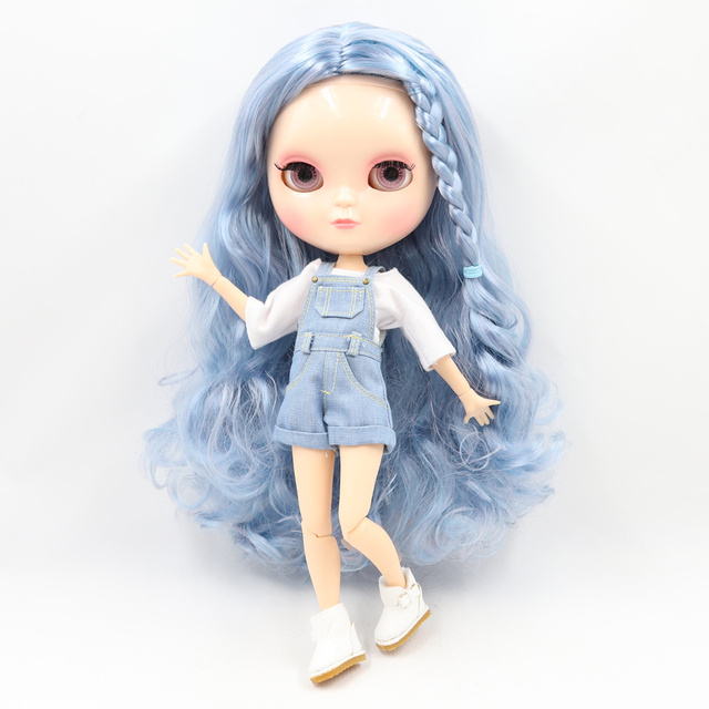 ICY Fortune Days factory joint body 30cm natural skin blue dice styling curls hair DIY sd gift toy