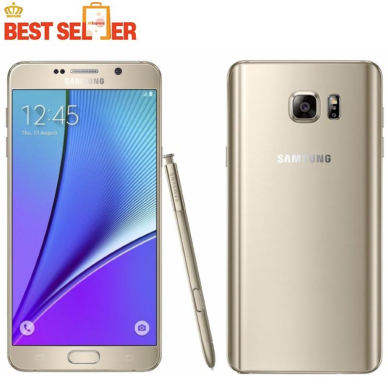 "Цена за Samsung Galaxy Note 5 N920P Sprint Версия Оригинала Разблокирована 4 Г LTE GSM Android Сотовый Телефон Окта основные 5.7 ""RAM 4 ГБ ROM 16MP 32 ГБ"