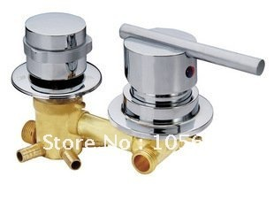 freeshipping Brass shower faucet / shower faucet / hot and cold water mixing valve valve / water / shower accessories free shipping 3 4 dn20 stainless steel float valve floating valve cold and hot water tank water tower df1211