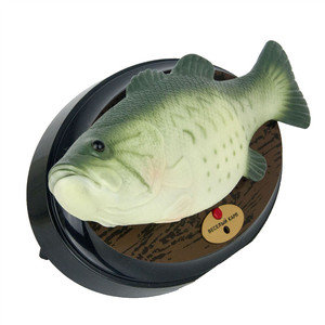 Image 5 - Funny Electronic Singing Plastic Fish Battery Powered Robot Toy Simulation Fishes Novelty Spoof Toys Halloween Decorating Play
