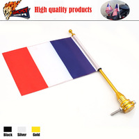 Free Shipping For Harley XL883 XL1200 Motorcycle Flag USA Motorcycle Flag Pole And American Flag France