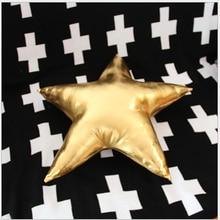 2017 1 unid PU 45×45 cm Nueva Suave Lindo Estrellas De Colores En Forma de Almohada Caliente Suave Para Niños de Cumpleaños Amante regalo MF264