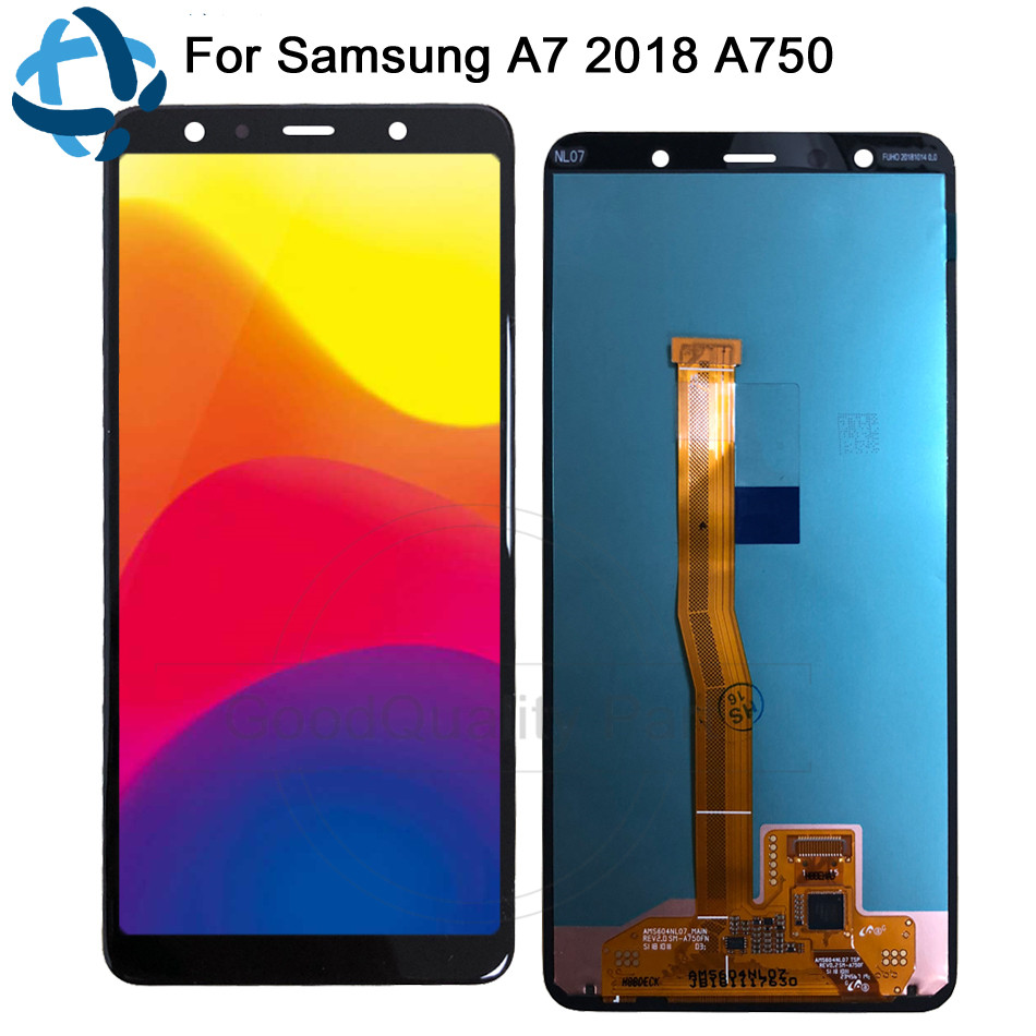 6 0 Amoled LCD For Samsung Galaxy A7 2018 SM A750F A750F A750 Display Touch Screen