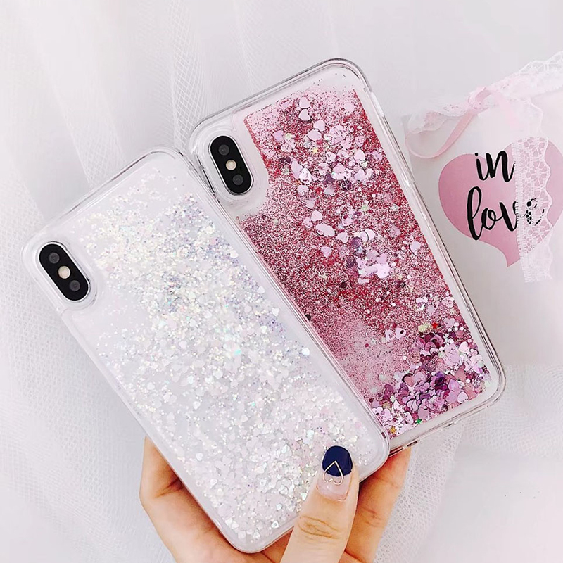 Soft Glitter Dynamic Liquid Quicksand Case for iPhone X Cases 5S SE 6S Plus for iPhone 7 Cover 8 Plus Silicon Case For iPhone 8 (6)