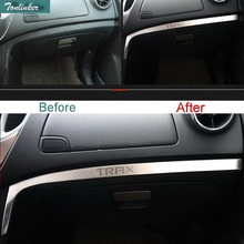 Tonlinker 3 PCS Car Styling Stainless Steel Dashboard glove box sticker cover Case stickers for Chevrolet TRAX 2014 Accessories