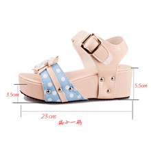Lady's  Sandals Med wedges shoes for women women summer Sandals shoes women's shoes med heels women's shoes with heels beige