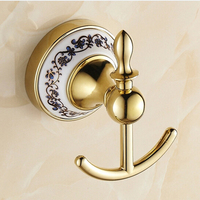 BECOLA Gold Robe hook Bathroom Accessories Wall Hooks Free Shipping BR 5501