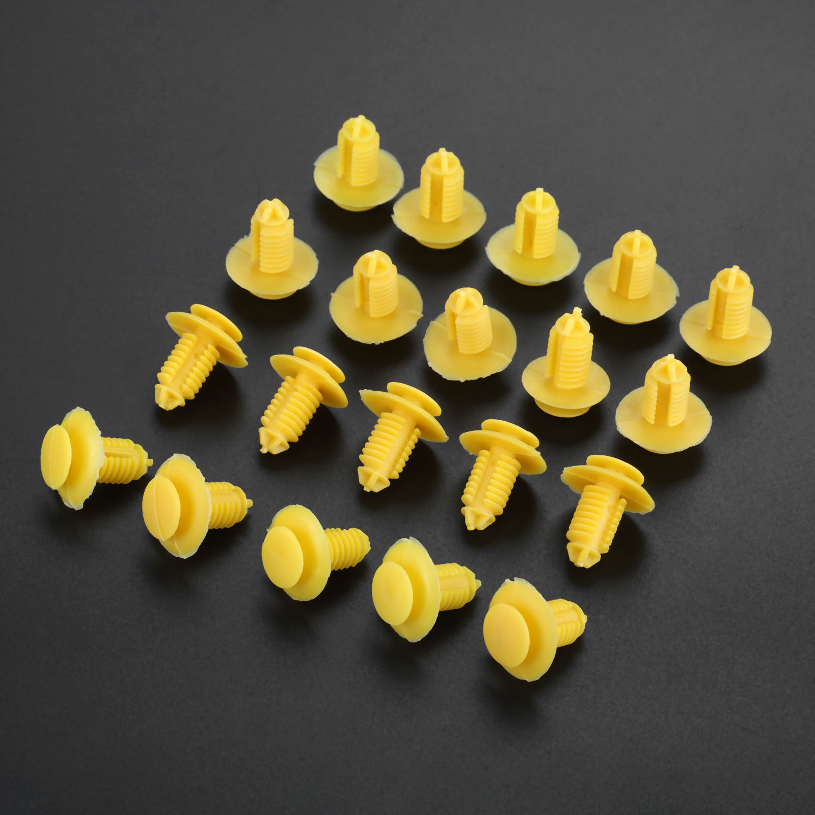 20Pcs D164 Clips Sill Kick Plate Cover Trim Retainer Fasteners Yellow For Rover 75 ZT EKM100270 in Auto Fastener Clip from Automobiles Motorcycles