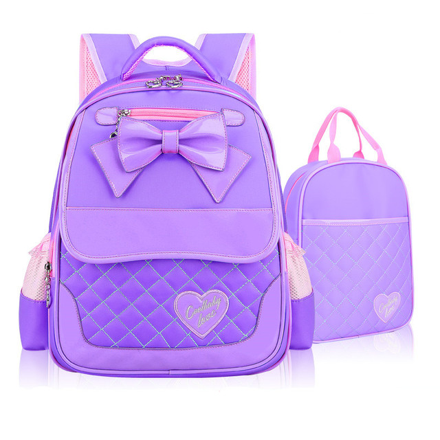 07cb1e1a1c Cute Bow School Bags for Girls Children Backpacks Primary Students Backpacks  Waterproof Schoolbag Kids Book Bag