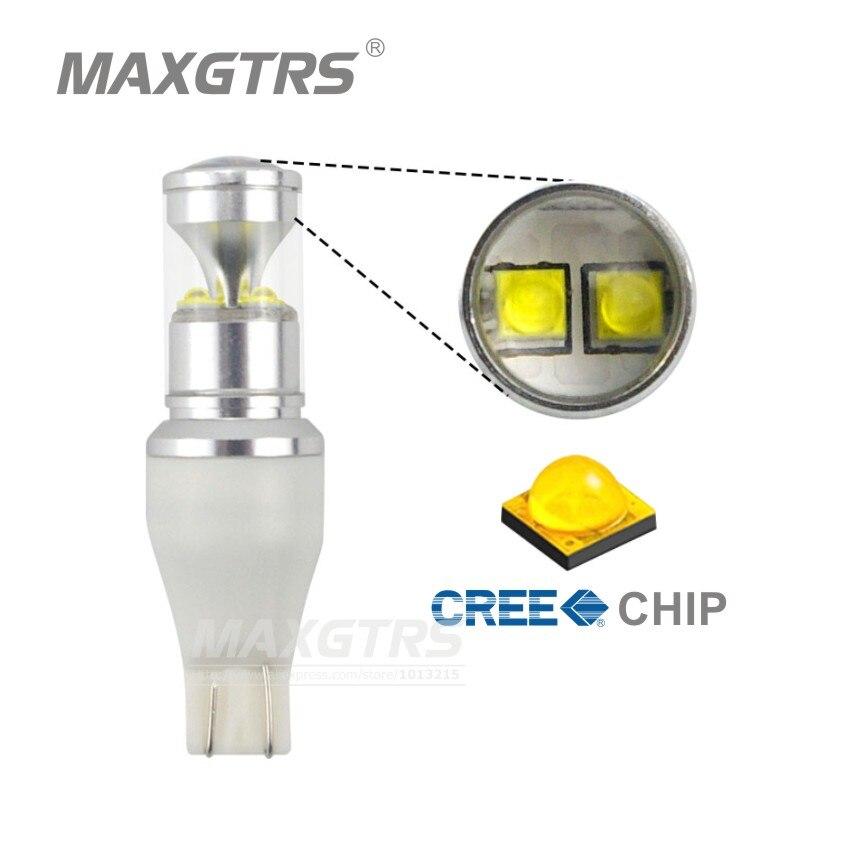 Prix pour 2X T15 912 921 W16W LED 30 W Extreme Brillant Cree Puce XBD Ampoules Pour Voiture Signal Lumineux Parking Feux De Recul De Sauvegarde Projecteur lentille
