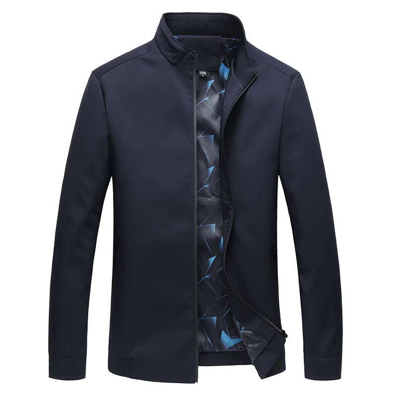 4XL mens jackets and coats Pure color Jacket men Fashion casual Middle aged men coat Navy and wine red