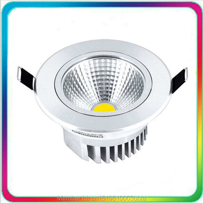 12PCS COB LED Downlight Dimmable LED Down Light 5W 7W 12W 15W 24W 30W Innfelt taklampe