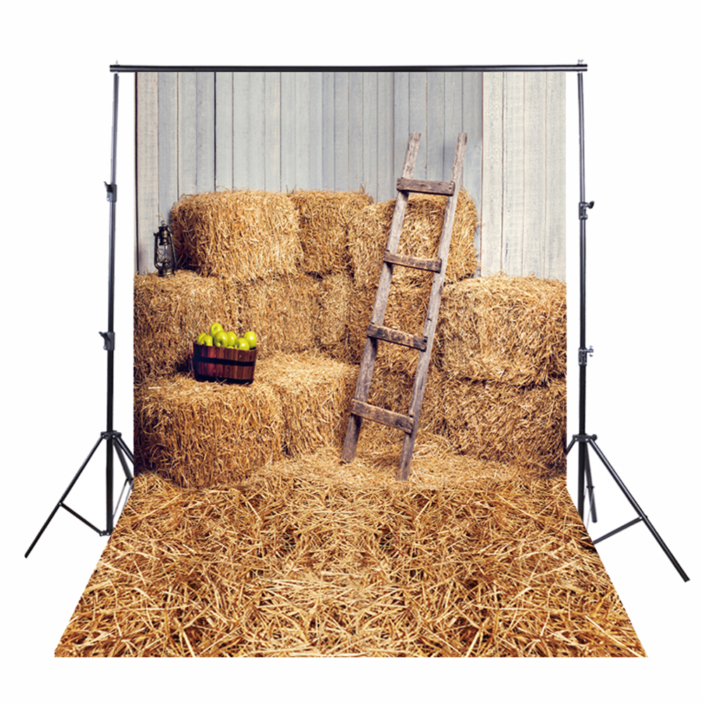 HUAYI Cotton Material Farm Haystack Backdrop Photography For Newborn Drop Background D-6160