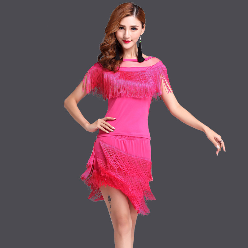 2020 New Fashion Performance Competition Women Dance Clothes Tassel Costume Ballroom Fringe Latin Dress Samba Carnival Costumes