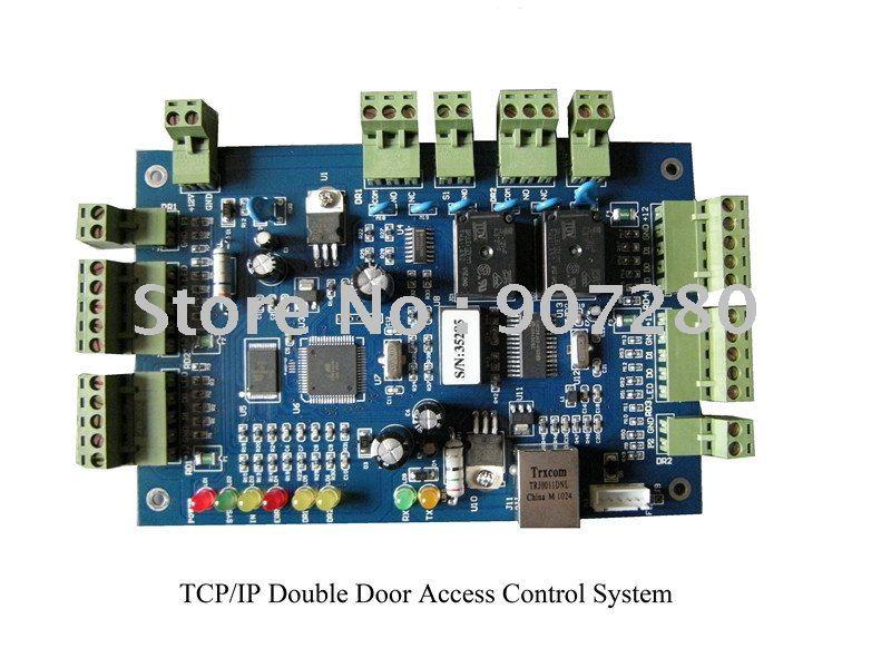 Wholesale TCP/IP Double Door Access Control Panel biometric fingerprint access controller tcp ip fingerprint door access control reader