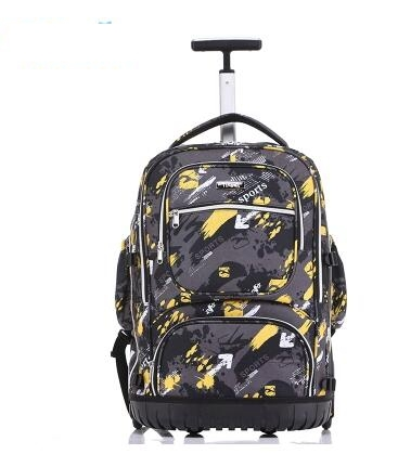 โรงเรียนกระเป๋าเป้สะพายหลัง 19 นิ้วกระเป๋าเป้สะพายหลังกระเป๋าเป้สะพายหลังสำหรับโรงเรียนเด็กกระเป๋าล้อเด็กรถเข็นกระเป๋าเป้สะพายหลังกระเป๋าสำหรับวัยรุ่น-ใน กระเป๋านักเรียน จาก สัมภาระและกระเป๋า บน   3