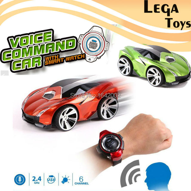 6016b308ce1 Voice Command Car 6 Channels RC Car With Smart Watch Voice Control Mini Remote  Control Cars rc model toy For Children