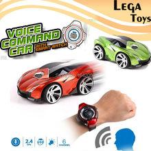Голосовые команды автомобиль 6 Каналы RC Автомобиль Смарт-часы голос Управление мини Дистанционное управление автомобили rc модель игрушка для детей