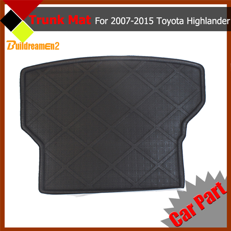Buildreamen2 All Weather Heavy Duty Car Cargo Floor Protector Tray Liner Carpet Truck Trunk Mat For Toyota Highlander 2007-2015