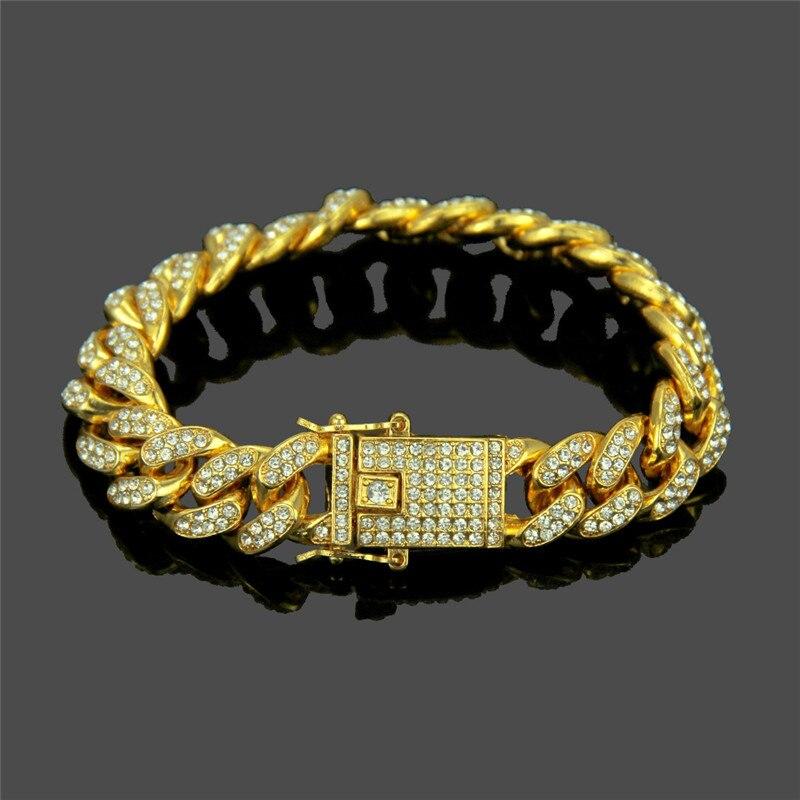 15cba810927e U7 dos tono Cadena de Color oro para hombres joyería de Hip Hop 9 MM  gargantilla