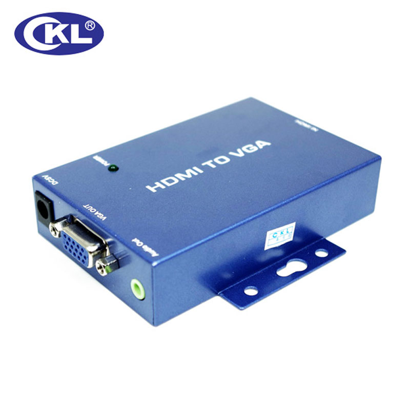 CKL-HVGA Mini HDMI To VGA Converter With Audio For PC Laptop To HDTV Projector