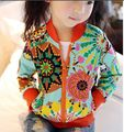 Baby Girls Jackets Casual Outerwear Fashion  Print Kids Sunscreen Clothing Girls Sun Flower Zipper Cardigan Children Raincoat