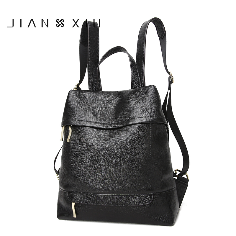 JIANXIU School Bags Genuine Leather Backpack Mochilas Mochila Feminina Bolsas Mujer Bagpack Escolar Backpacks 2017 Back Pack Bag backpack mochilas mochila feminina school bags women bag genuine leather backpacks travel bagpack mochilas mujer 2017 sac a dos