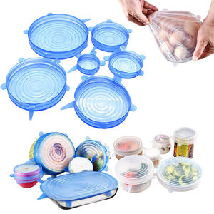 6Pcs/Set Stretch Universal Food Pot Silicone Lids Cover Pan